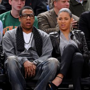 Jay-Z rocking his inner nerd at the court.