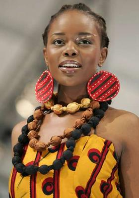 An outfit by Sun Goddes at Joburg Fashion Week.