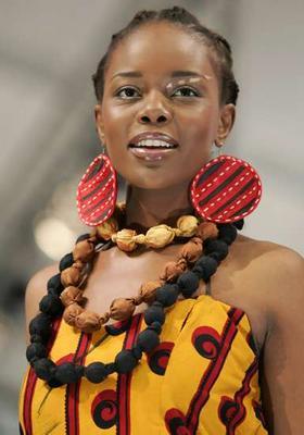 An outfit by Sun Goddes at Joburg Fashion Week.