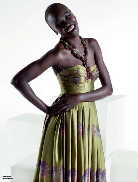 Alek Wek in MOMO Couture