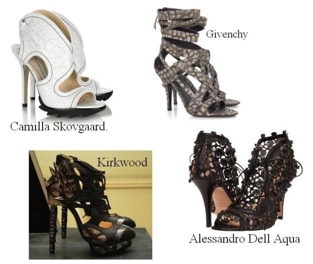 Art is a shoe on a woman's foot.